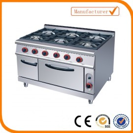 Unique Heavy Duty Stove - 6 Burners - Including Oven - Gas